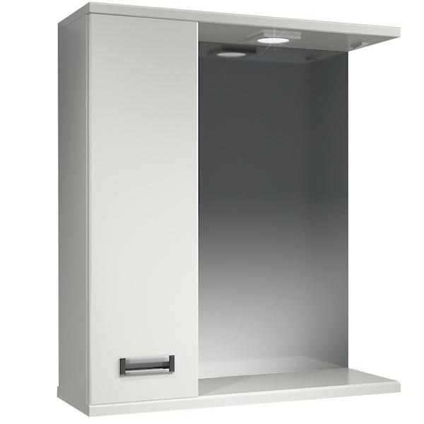 Зеркальный шкаф Какса-А Пикколо 62 L 003561 с подсветкой Белый зеркальный шкаф какса а витраж 62 l 003314 с подсветкой белый