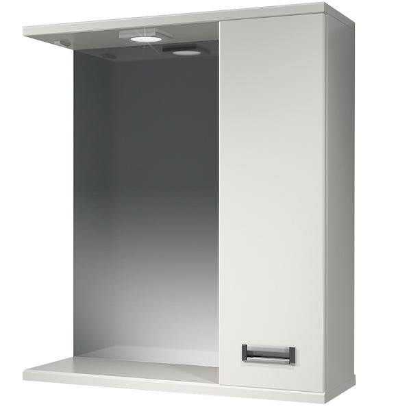Зеркальный шкаф Какса-А Пикколо 62 R 003565 с подсветкой Белый зеркальный шкаф какса а пикколо 55 r 003564 с подсветкой белый