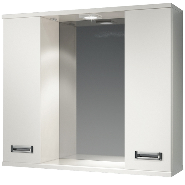 Зеркальный шкаф Какса-А Пикколо 80 003806 с подсветкой Белый зеркальный шкаф какса а пикколо 55 r 003564 с подсветкой белый