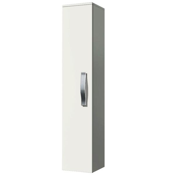 Шкаф-пенал Какса-А Хилтон 30 004011 подвесной Белый шкаф пенал какса а практик 30 004380 подвесной белый