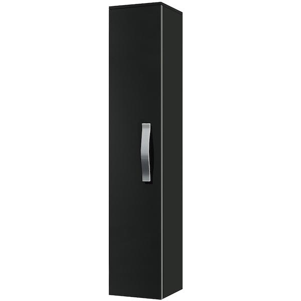 Шкаф-пенал Какса-А Хилтон 30 004010 подвесной Черный шкаф пенал какса а практик 30 004380 подвесной белый
