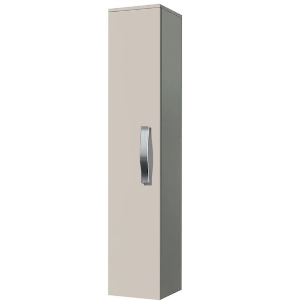 Шкаф пенал Какса-А Хилтон 30 004161 подвесной Крем шкаф пенал какса а спектр 30 004276 подвесной белый