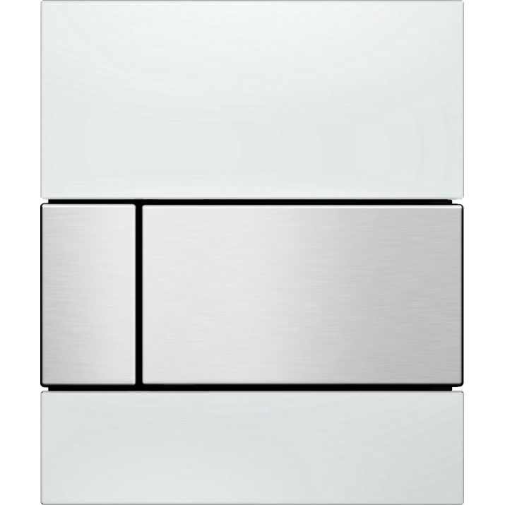 Кнопка смыва Tece Square Urinal 9242801 для писсуара Белая Нержавеющая сталь