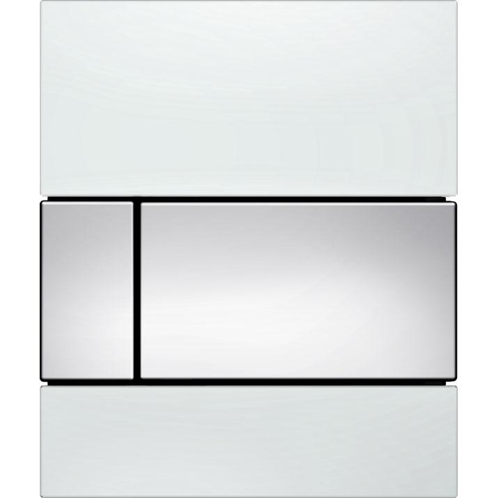 Кнопка смыва Tece Square Urinal 9242802 для писсуара Белая Хром глянцевый