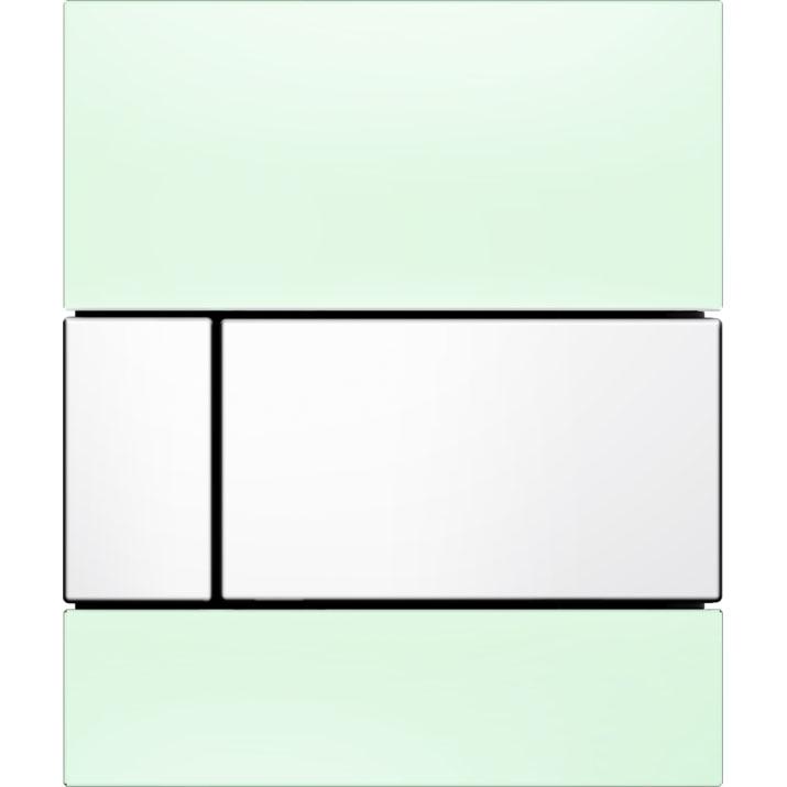 Кнопка смыва Tece Square Urinal 9242803 для писсуара Зеленая Белая