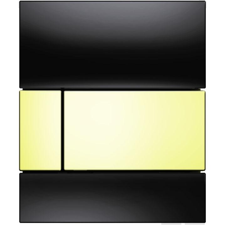 Кнопка смыва Tece Square Urinal 9242808 для писсуара Черная Золото
