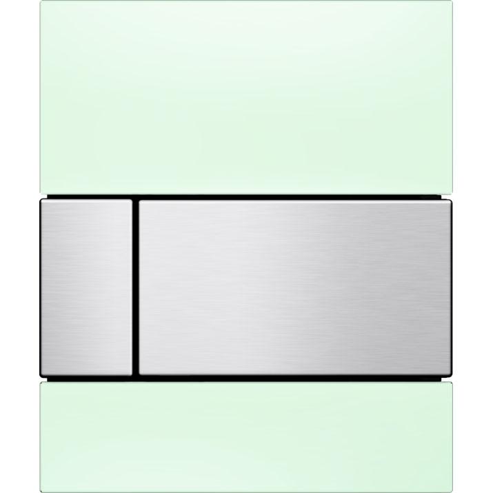 Кнопка смыва Tece Square Urinal 9242804 для писсуара Зеленая Нержавеющая сталь