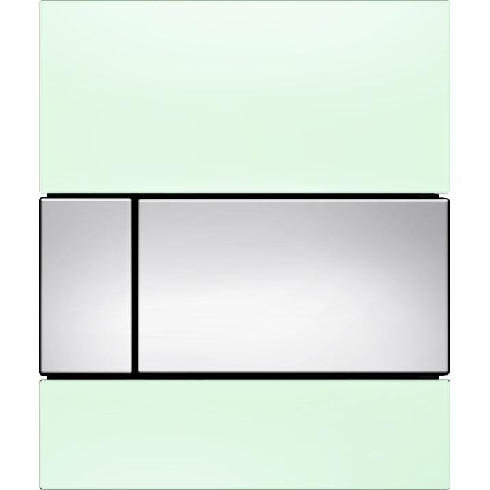 Кнопка смыва Tece Square Urinal 9242805 для писсуара Зеленая Хром глянцевый