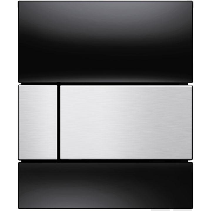 Кнопка смыва Tece Square Urinal 9242806 для писсуара Черная Нержавеющая сталь