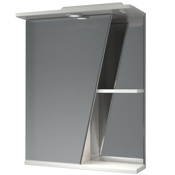 Зеркальный шкаф Какса-А Астра 55 L 001838 с подсветкой Белый зеркальный шкаф какса а астра 55 r 001837 с подсветкой белый