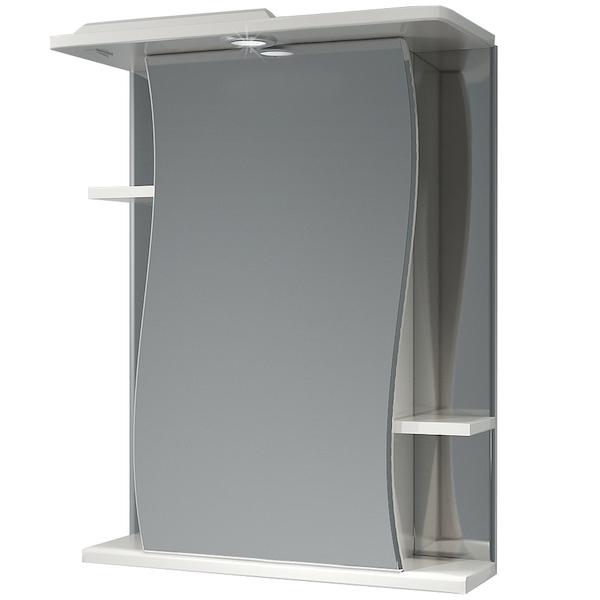 Зеркальный шкаф Какса-А Волна 55 003167 с подсветкой Белый зеркальный шкаф какса а витраж 62 r 003315 с подсветкой белый