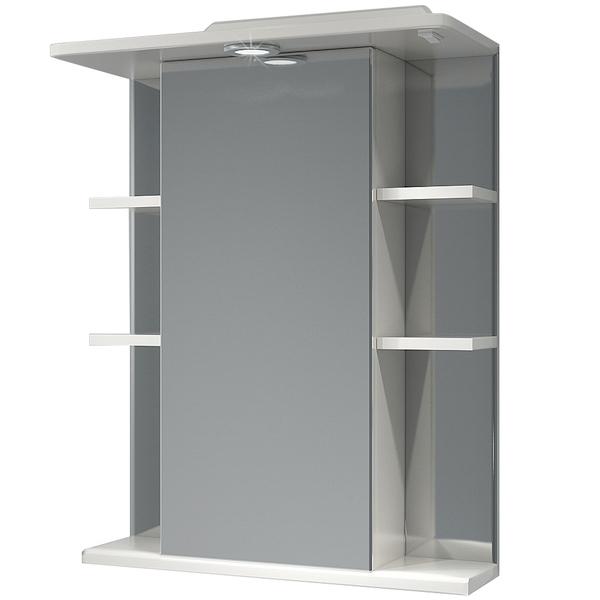 Зеркальный шкаф Какса-А Гиро 55 001839 с подсветкой Белый зеркальный шкаф какса а витраж 62 r 003315 с подсветкой белый