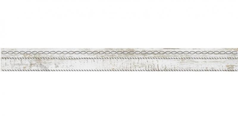 Керамическая плитка Laparet Sweep Бордюр белый 6х60