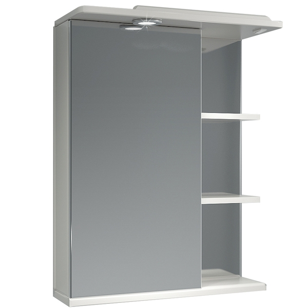 Зеркальный шкаф Какса-А Грация 55 L 003186 с подсветкой Белый зеркальный шкаф какса а астра 55 l 001838 с подсветкой белый