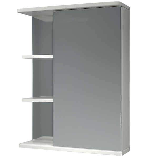 Зеркальный шкаф Какса-А Грация 55 R 002916 Белый зеркальный шкаф какса а грация 55 r 003201 с подсветкой белый
