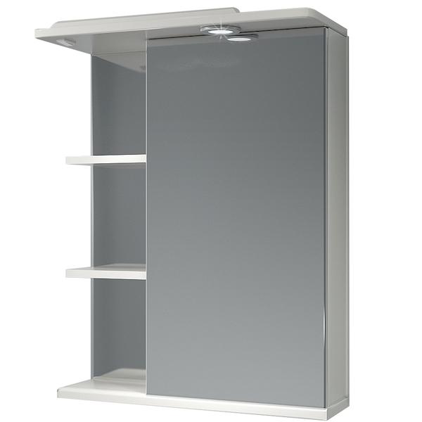Зеркальный шкаф Какса-А Грация 55 R 003201 с подсветкой Белый зеркальный шкаф какса а витраж 62 r 003315 с подсветкой белый