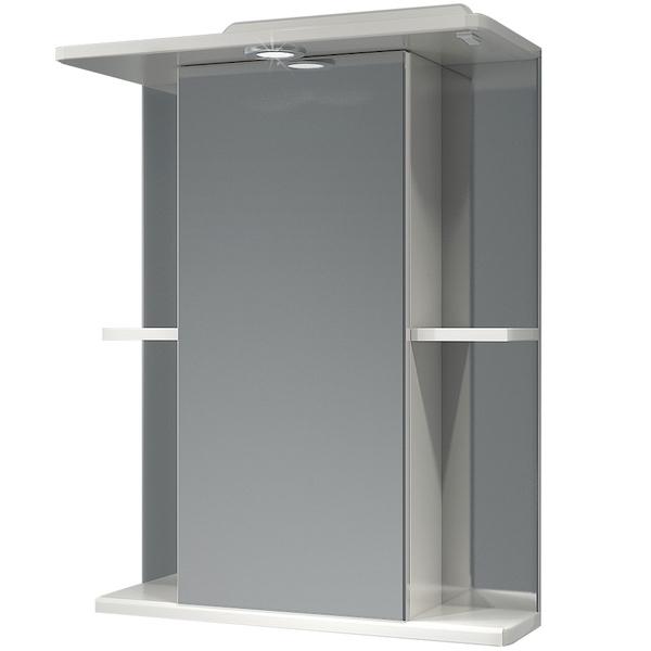 Зеркальный шкаф Какса-А Мадрид 55 003305 с подсветкой Белый зеркальный шкаф какса а витраж 62 r 003315 с подсветкой белый