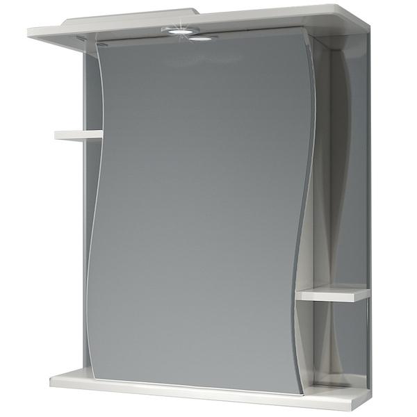Зеркальный шкаф Какса-А Волна 62 001911 с подсветкой Белый зеркальный шкаф какса а витраж 62 r 003315 с подсветкой белый