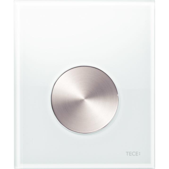 Кнопка смыва Tece Loop Urinal Glass 9242661 для писсуара Белая Нержавеющая сталь фото