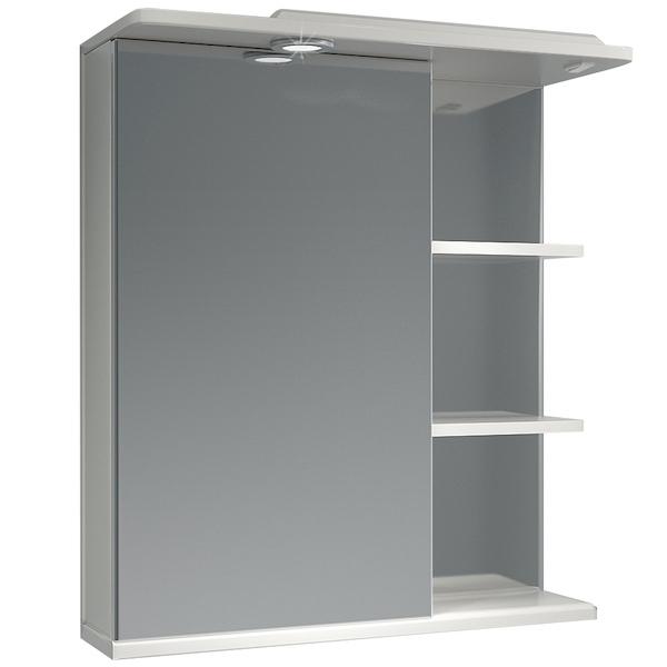 Зеркальный шкаф Какса-А Грация 62 L 003283 с подсветкой Белый зеркальный шкаф какса а витраж 62 r 003315 с подсветкой белый