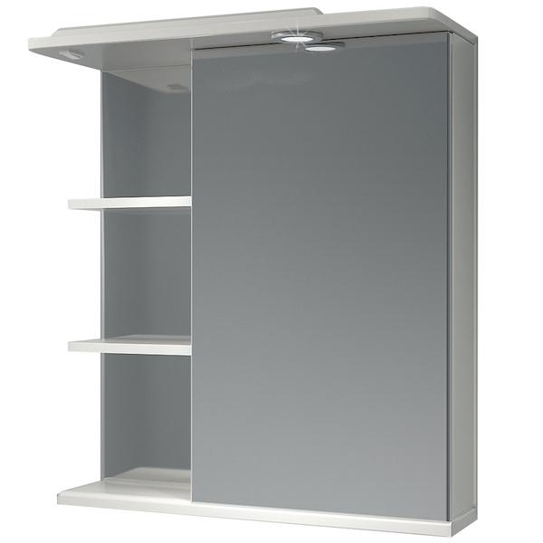 Зеркальный шкаф Какса-А Грация 62 R 003284 с подсветкой Белый зеркальный шкаф какса а витраж 62 r 003315 с подсветкой белый