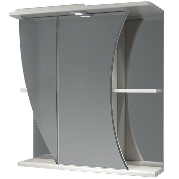 Зеркальный шкаф Какса-А Белла 65 L 002602 с подсветкой Белый