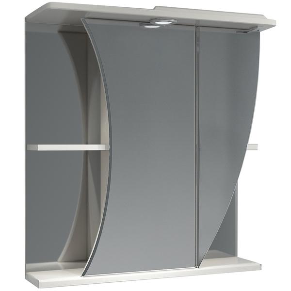 Зеркальный шкаф Какса-А Белла 65 R 002606 с подсветкой Белый зеркальный шкаф какса а витраж 62 r 003315 с подсветкой белый