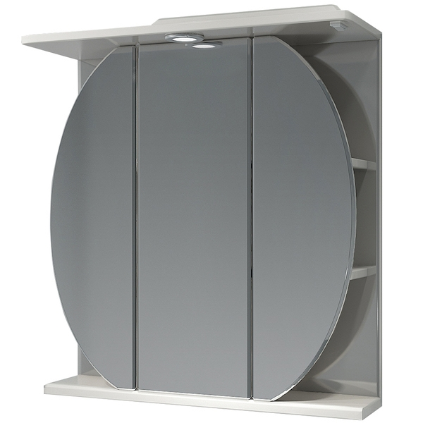 Зеркальный шкаф Какса-А Шар 65 002616 с подсветкой Белый зеркальный шкаф какса а домино 62 r 003313 с подсветкой белый