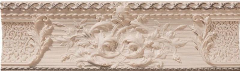 Керамический бордюр Azulev Delice List Decoro Marfil 9х29 см