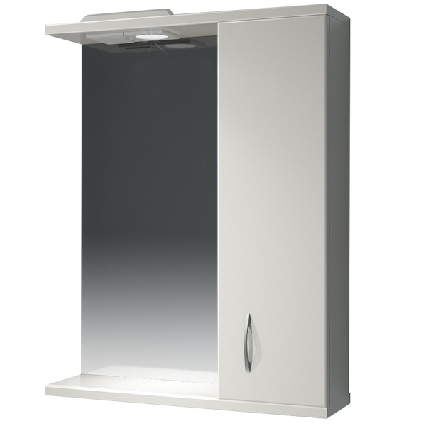 Зеркальный шкаф Какса-А Эко 50 R 003628 с подсветкой Белый зеркальный шкаф какса а витраж 70 r 003241 с подсветкой белый