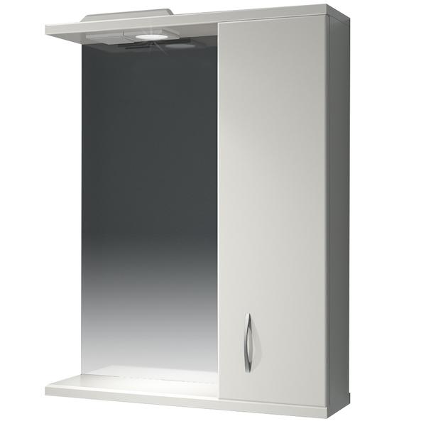 Зеркальный шкаф Какса-А Эко 55 R 003604 с подсветкой Белый зеркальный шкаф какса а астра 55 r 001837 с подсветкой белый