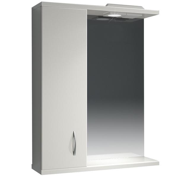 Зеркальный шкаф Какса-А Эко 62 L 003605 с подсветкой Белый зеркальный шкаф какса а витраж 62 l 003314 с подсветкой белый