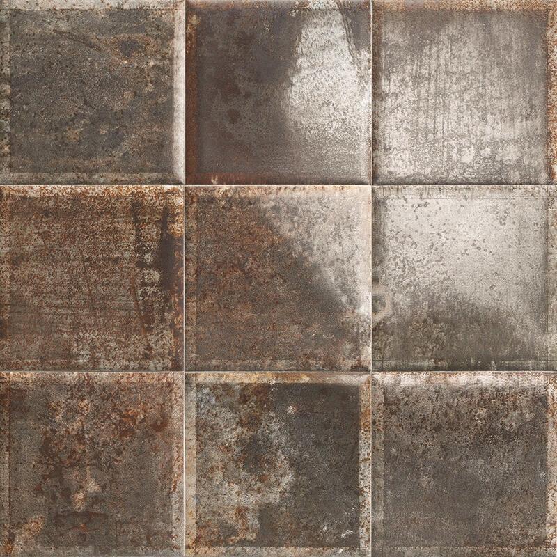 Керамическая плитка Mainzu Tin-Tile Nero настенная 20х20 см керамическая плитка mainzu tin tile cream настенная 20х20 см