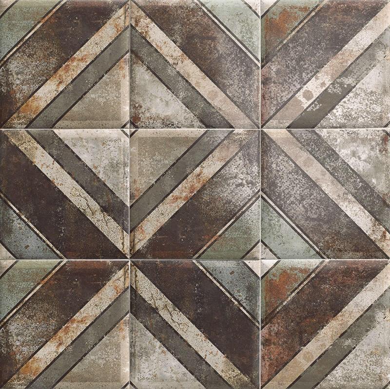 Керамическая плитка Mainzu Tin-Tile Diagonal настенная 20х20 см керамическая плитка mainzu tin tile cream настенная 20х20 см