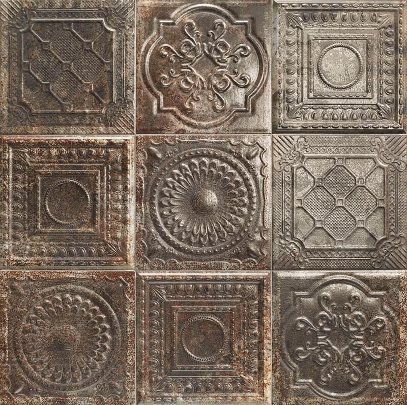 Керамическая плитка Mainzu Tin-Tile Rusty Nero настенная 20х20 см