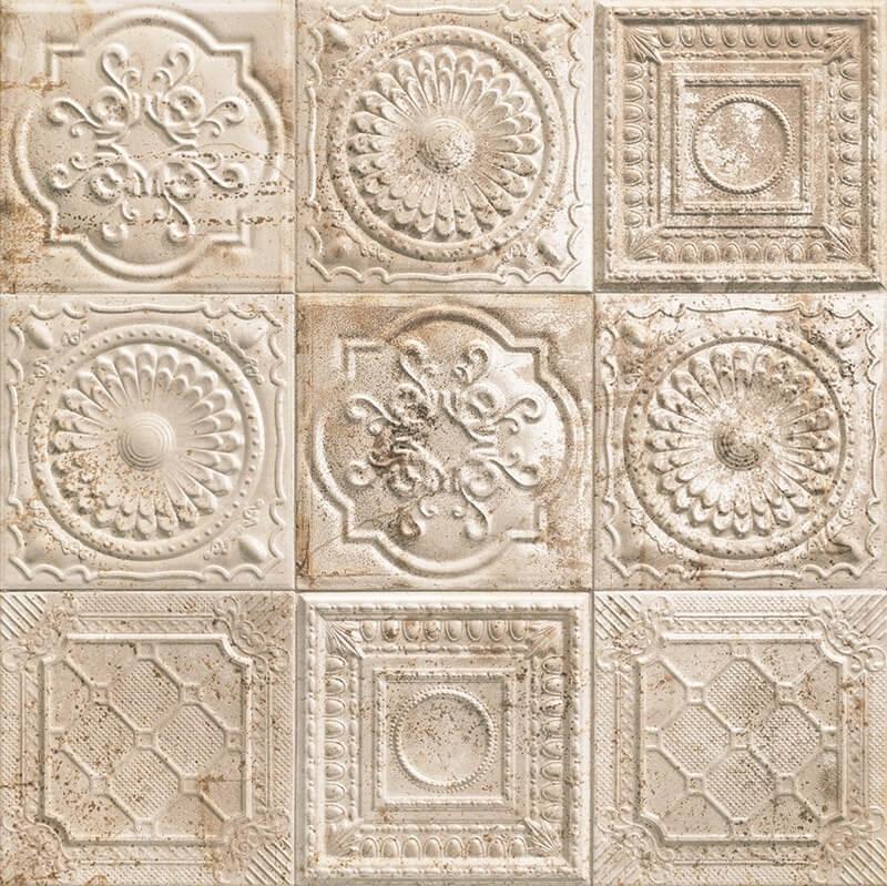 Керамическая плитка Mainzu Tin-Tile Rusty Cream настенная 20х20 см керамическая плитка mainzu tin tile cream настенная 20х20 см