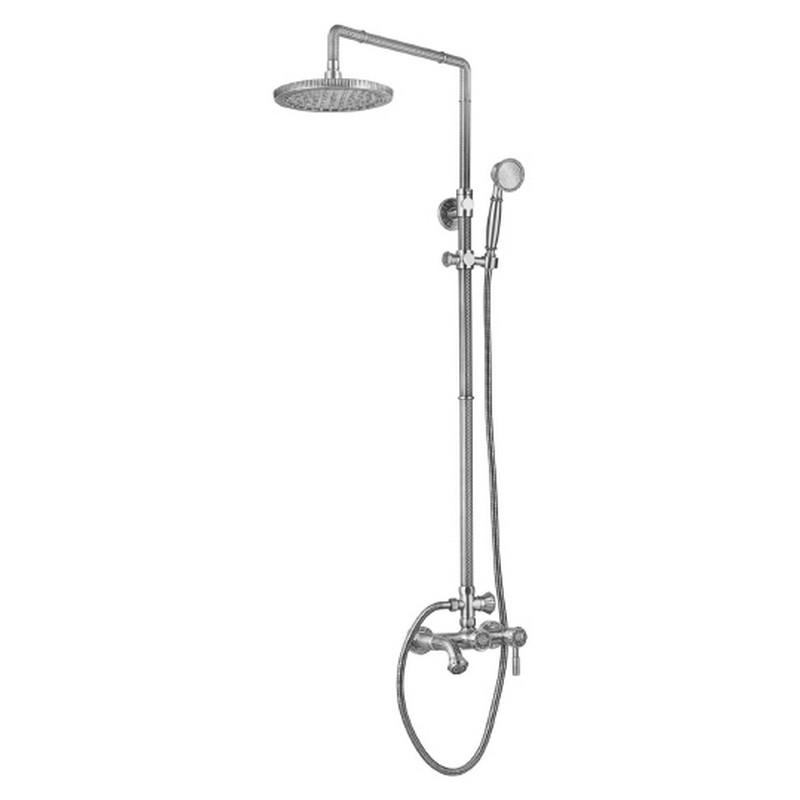 Душевая система ZorG Antic A 201DS-SL Серебро