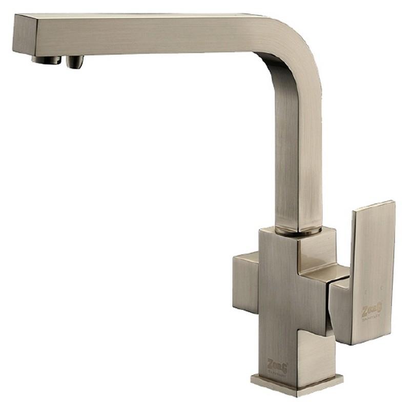 Смеситель для кухни ZorG Clean Water ZR 311 YF-NICKEL Никель смеситель для кухни zorg clean water zr 515 yf