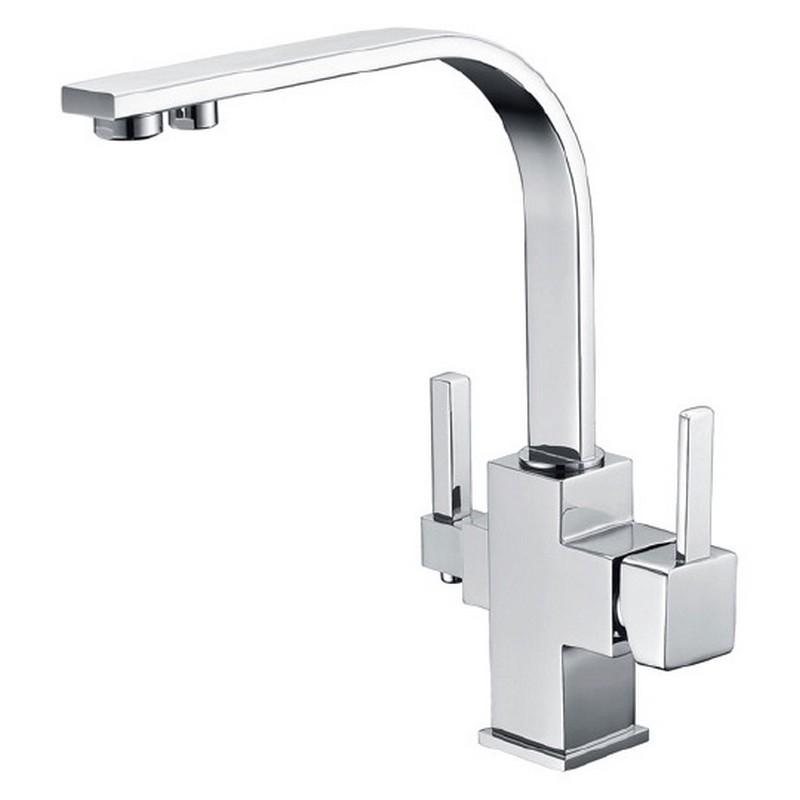 Смеситель для кухни ZorG Clean Water ZR 332 YF Хром цена и фото