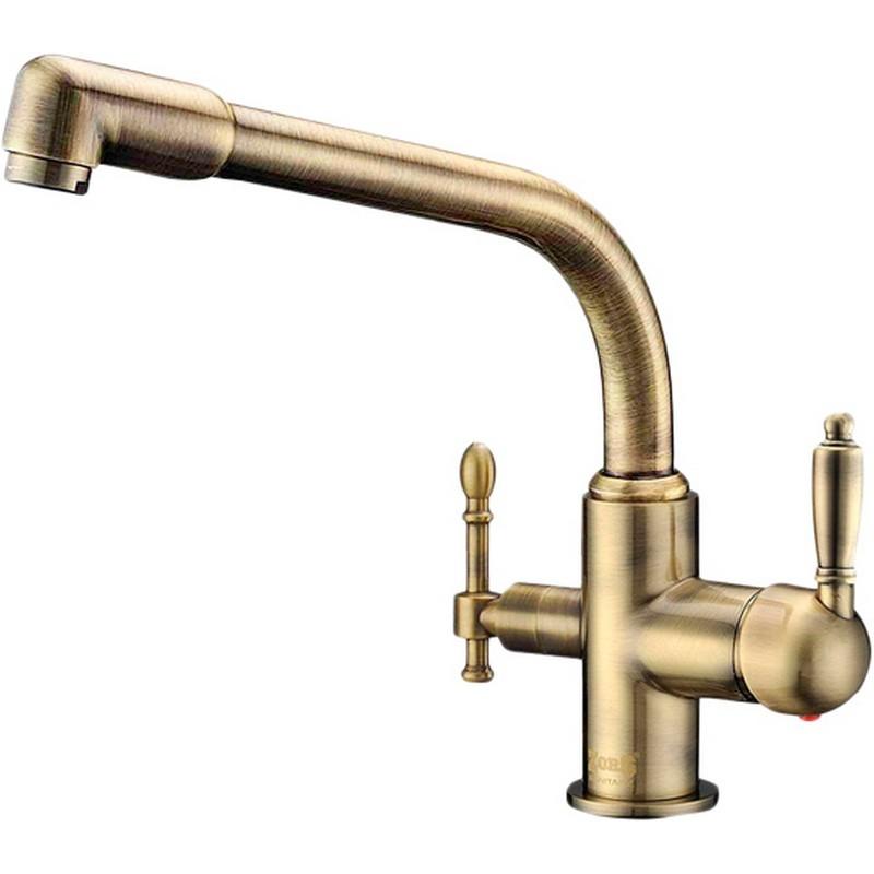Смеситель для кухни ZorG Sanitary ZR 319 YF-33 BR Бронза