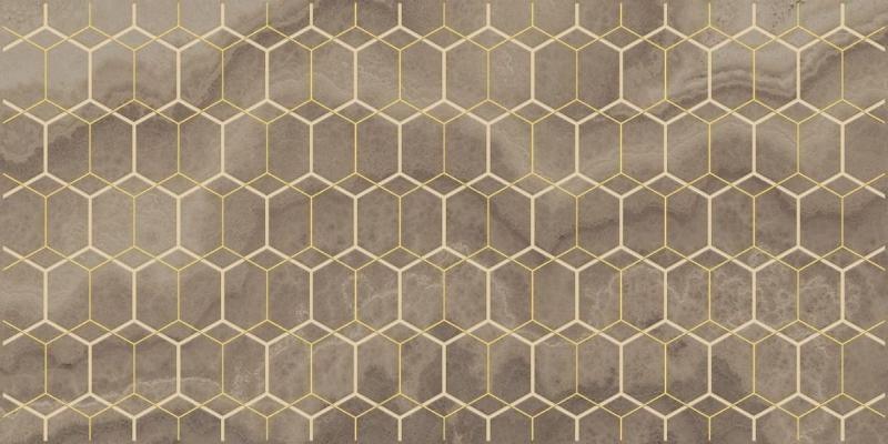 Керамический декор Laparet Prime коричневый 25х50 см