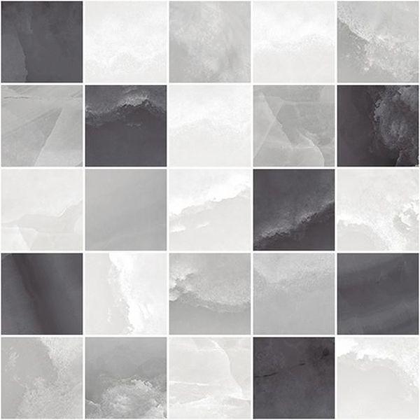 Керамический декор Laparet Prime мозаичный серый микс MM34040 25х25 см керамический декор alaplana kingstone biege стена 9 видов 25х25 см
