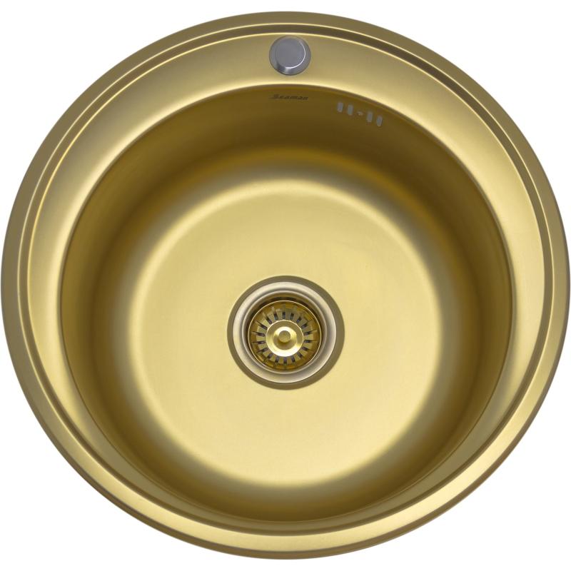 Кухонная мойка Seaman Eco Wien SWT-510-Antique gold matt.A Золотая фото