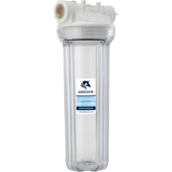 Корпус магистрального фильтра Unicorn FH2P 1/2 для холодной воды Прозрачный колба магистрального фильтра kristalfilter eco slim 10 t 1 2