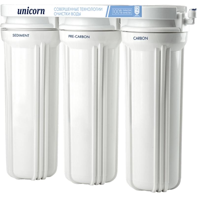 Трехступенчатая система фильтрации Unicorn FPS-3 для питьевой воды с краном и картриджами