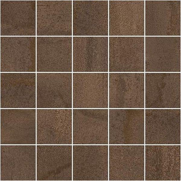Керамический декор Laparet Metallica мозаичный коричневый MM34035 25х25 см керамический декор alaplana kingstone biege стена 9 видов 25х25 см