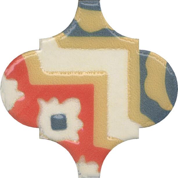Керамический декор Kerama Marazzi Арабески Майолика орнамент OS/A41/65000 6,5х6,5 см керамический декор kerama marazzi арабески майолика гауди op a170 65000 6 5х6 5 см