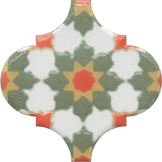 Керамический декор Kerama Marazzi Арабески Майолика орнамент OS/A40/65000 6,5х6,5 см керамический декор kerama marazzi арабески майолика гауди op a172 65000 6 5х6 5 см