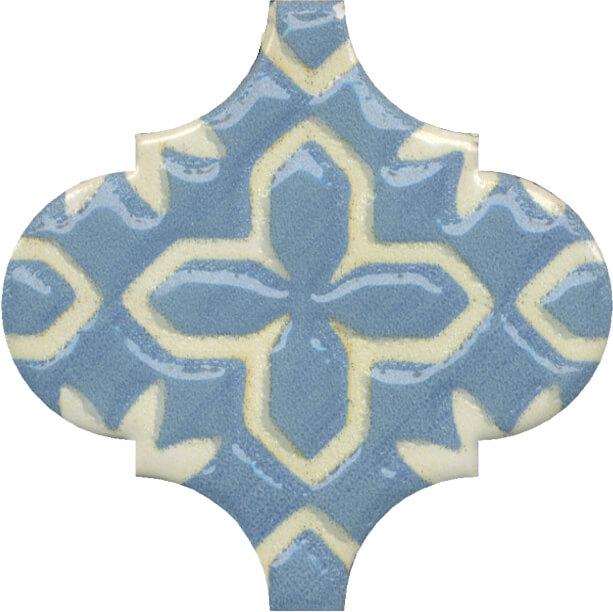 Керамический декор Kerama Marazzi Арабески Майолика орнамент OS/A37/65000 6,5х6,5 см керамический декор kerama marazzi арабески майолика гауди op a170 65000 6 5х6 5 см