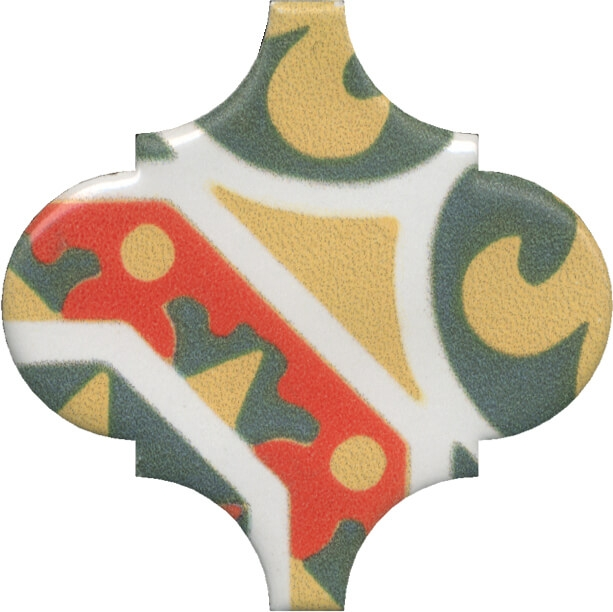 Керамический декор Kerama Marazzi Арабески Майолика орнамент OS/A35/65000 6,5х6,5 см керамический декор kerama marazzi арабески майолика гауди op a172 65000 6 5х6 5 см